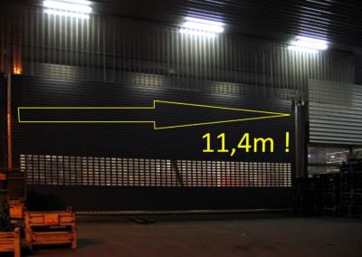 Vrata rolovací Hörmann 11,4 m šířka