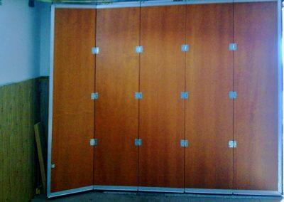 Vrata sekční posuvná vnitřní pohled