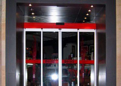 Dveře automatické lineární centrální hliníkové (3)