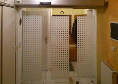 Dveře automatické lineární teleskopické jednostranné