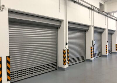 Rolovací garážová vrata pro hromadné garáže