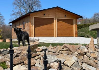 sekční garážová vrata hormann, sekční vrata hormann, sekční vrata renomatic, vrata zlatý dub